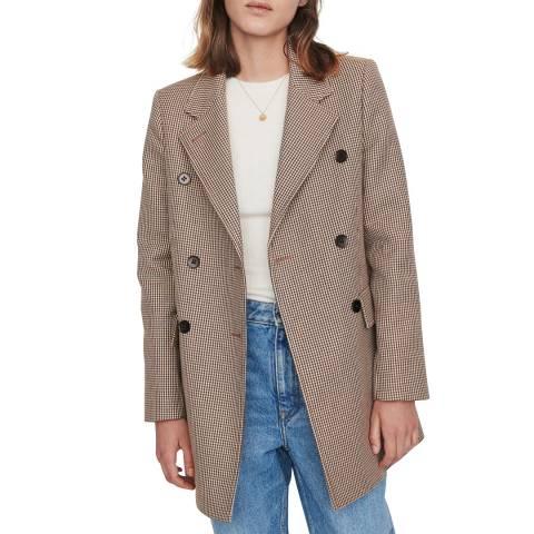MAJE Beige Goldi Dogtooth Jacket