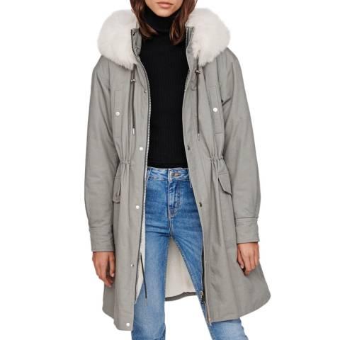 MAJE Grey Gisou Cotton Coat