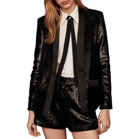 MAJE Black Vingo Sequin Blazer