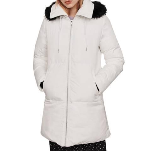MAJE White Gluesy Quilted Coat
