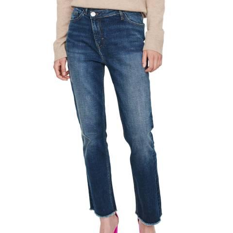MAJE Blue Crossover Slim Stretch Jeans