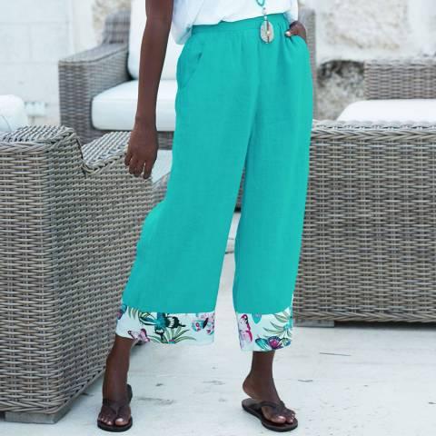 Aspiga Emerald Crop Linen Trouser