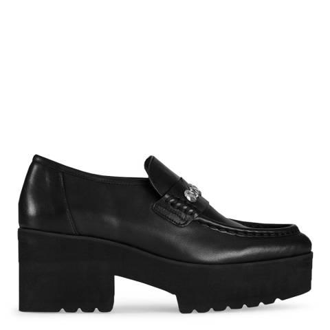 MAJE Black Flatzo Wedge Heel Loafer