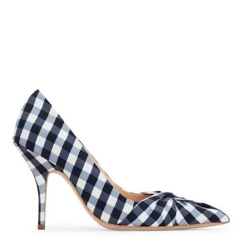 MAJE Blue Fabvichy Gingham Print Court Shoe