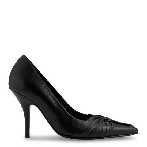MAJE Black Escprin Draped Leather Court Shoe