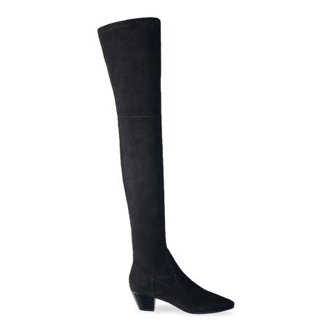 MAJE Black Flikuio Stretch Thigh High Boot
