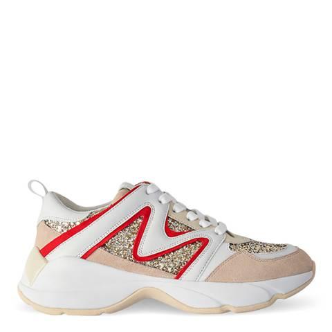MAJE Beige Multi W22 Sneaker