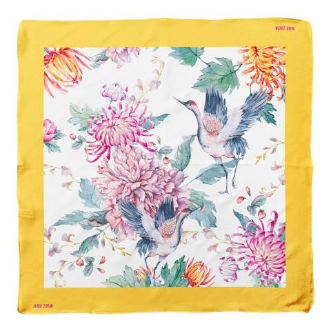 Alber Zoran Multi Animal/Floral Printed Scarf
