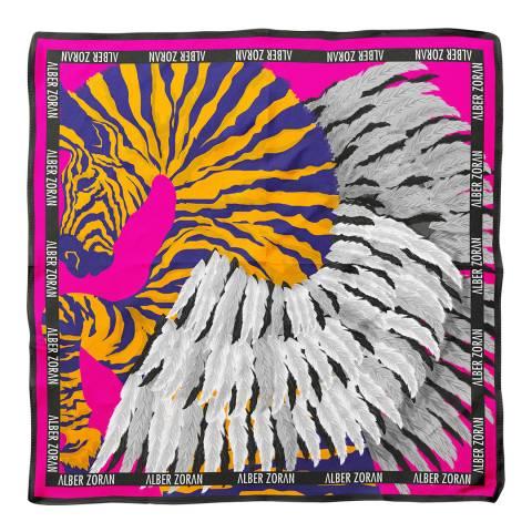 Alber Zoran Multi Zebra Printed Scarf