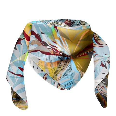 Alber Zoran Multi Large Abstract Printed Scarf