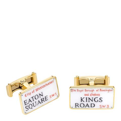 Theo Fennell 18ct Yellow Gold Street Sign Cufflinks