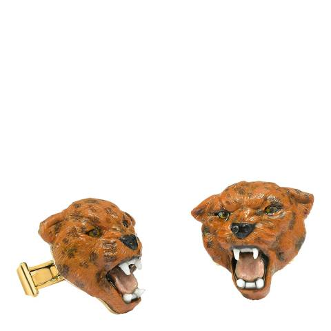 Theo Fennell 18ct Yellow Gold Panther Head Cufflinks
