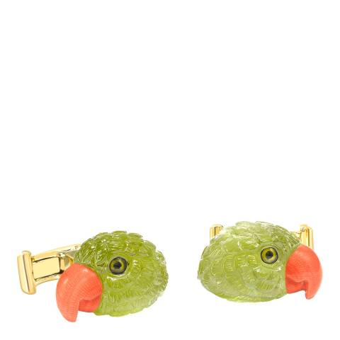 Theo Fennell 18ct Yellow Gold Parrot Head Cufflinks