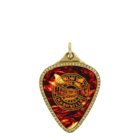 Theo Fennell 18ct Yellow Gold Diamond Hall of Fame Plectrum Pendant