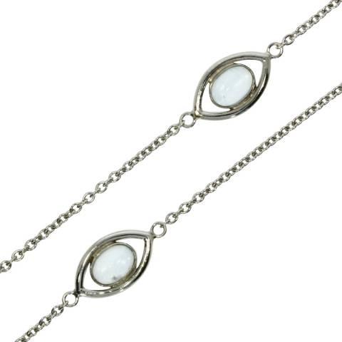 Theo Fennell 18ct White Gold Blue Topaz Evil Eye Chain