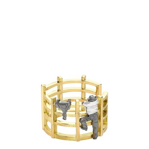Theo Fennell 18ct Yellow Gold Cowboy Ring Fence Ring