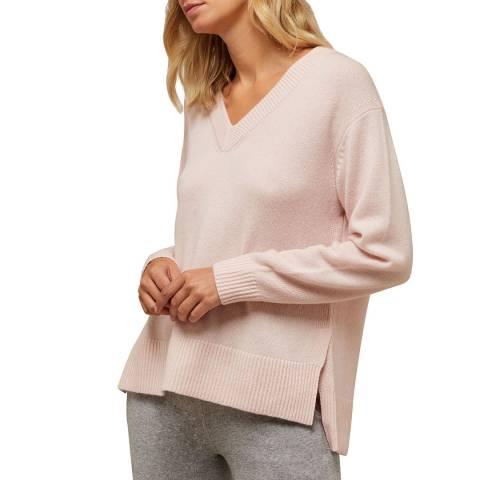 N°· Eleven Pink Cashmere Vee Neck Jumper