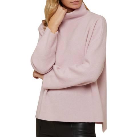N°· Eleven Pink Cashmere Blend Funnel Neck Jumper