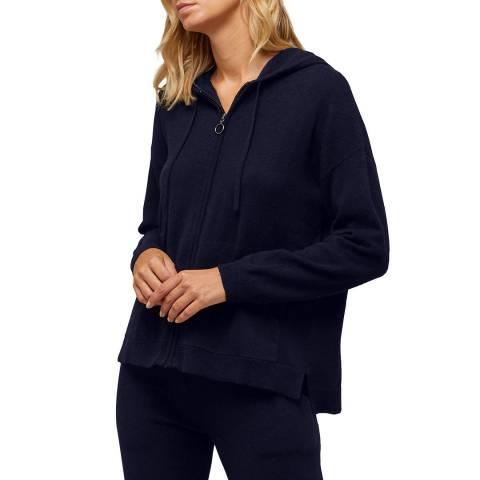 N°· Eleven Navy Cashmere Blend Zip Hoody