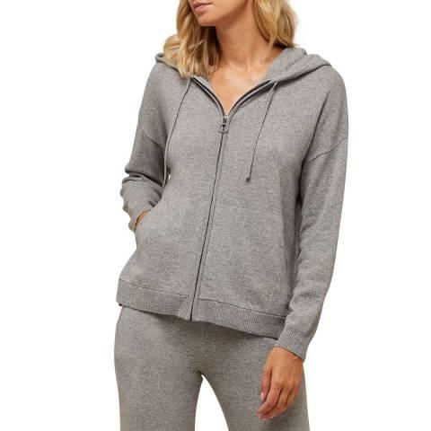 N°· Eleven Grey Cashmere Blend Zip Hoody