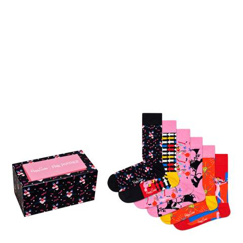 Happy Socks 6-Pack Pink Panther Collector Box Set