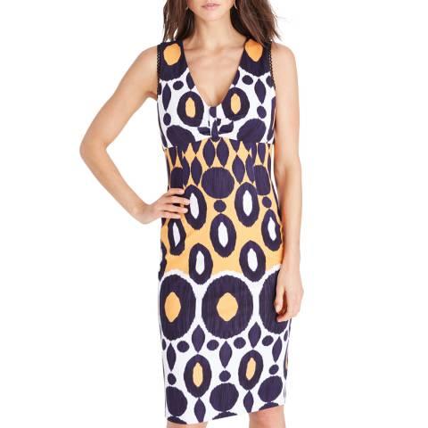 Damsel In A Dress Yellow Olga Print Dress