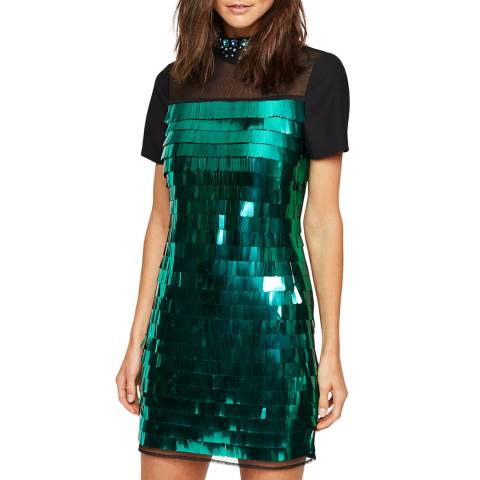 Damsel In A Dress Teal Shula Sequin Dress