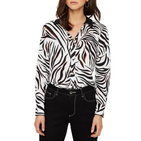 Damsel In A Dress Multi Zebra Print Eliza Silk Blend Blouse