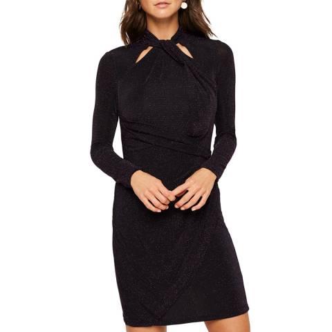 Damsel In A Dress Black Verna Sparkle Dress