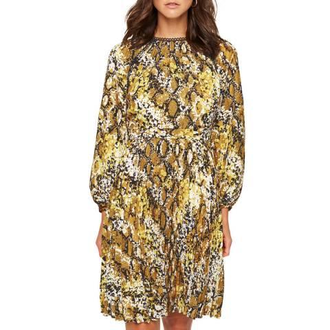 Damsel In A Dress Yellow Naia Snake Dress