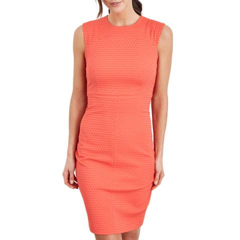 Damsel In A Dress Orange Romano Textured Dress