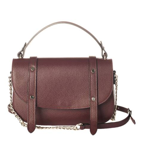 Lisa Minardi Wine Leather Top Handle Bag