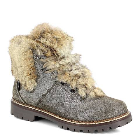 Kimberfeel Grey Courchevel Ankle Boots