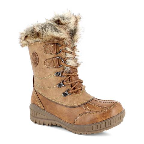 Kimberfeel Brown Elena Tall Snow Boots