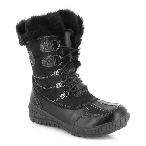 Kimberfeel Black Elena Tall Snow Boots