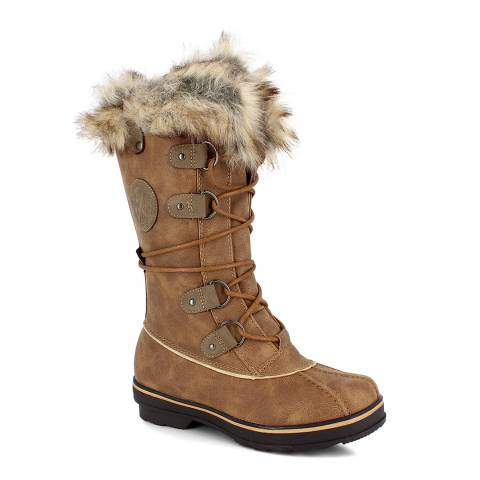 Kimberfeel Tan Manon Tall Snow Boots