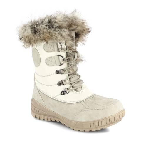 Kimberfeel Cream Elena Tall Snow Boots