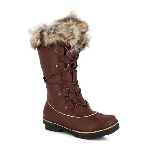Kimberfeel Chocolat Manon Tall Snow Boots
