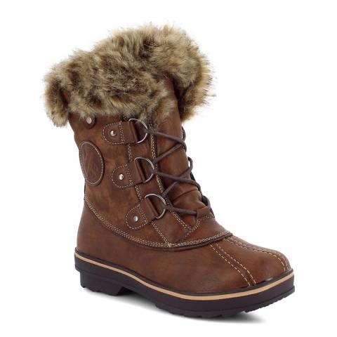 Kimberfeel Chocolat Emmy Faux Fur Cuff Snow Boots
