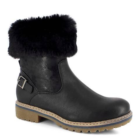 Kimberfeel Black Mia Short Boots