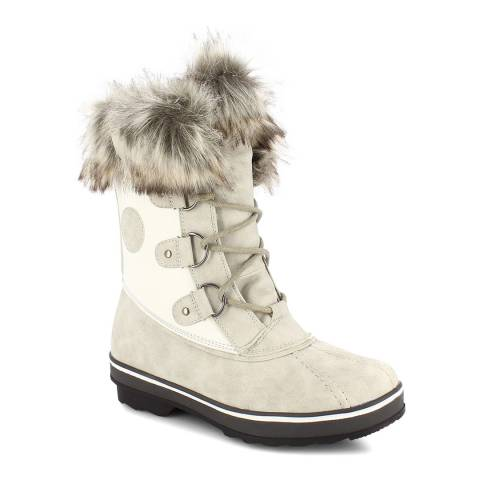 Kimberfeel Cream Emmy Faux Fur Cuff Snow Boots