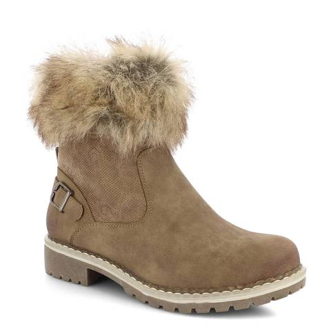 Kimberfeel Taupe Mia Short Boots