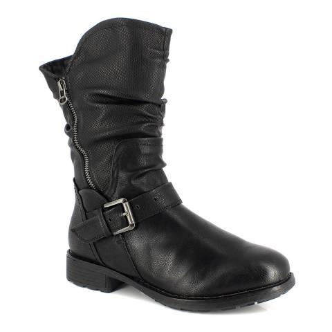 Kimberfeel Black Adele Leather Boots
