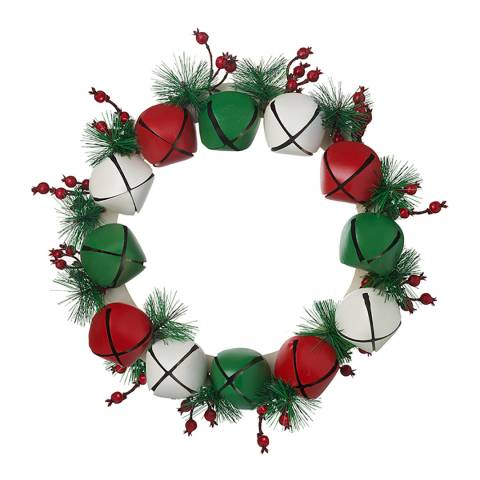 Heaven Sends Large Metal Bell Wreath With Fir &Amp; Berries