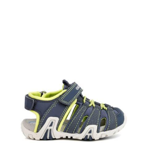 Geox Younger Boy's Navy Kraze Sandals