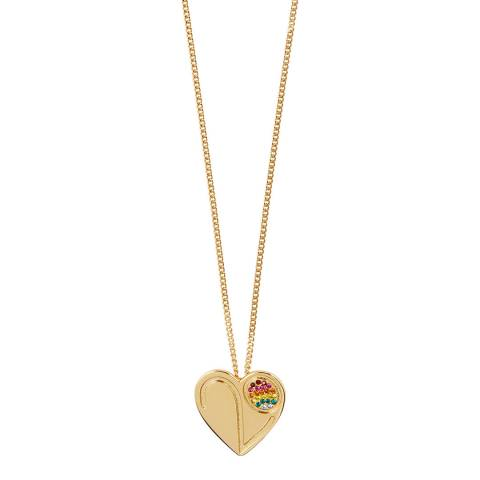 MAJE Gold Anniversary Face Heart Necklace