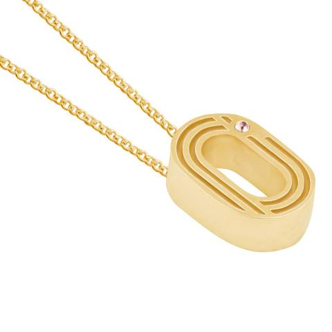 MAJE Gold O Initial Necklace