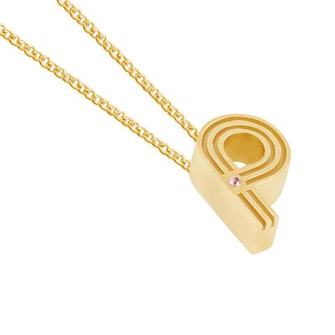 MAJE Gold P Initial Necklace