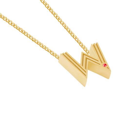 MAJE Gold W Letter Pendant Necklace