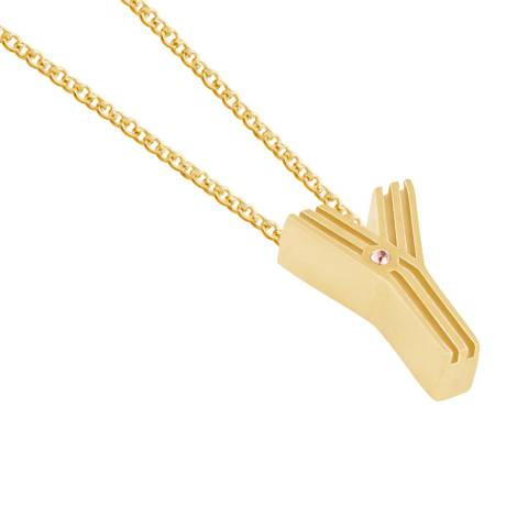 MAJE Gold Y Initial Necklace